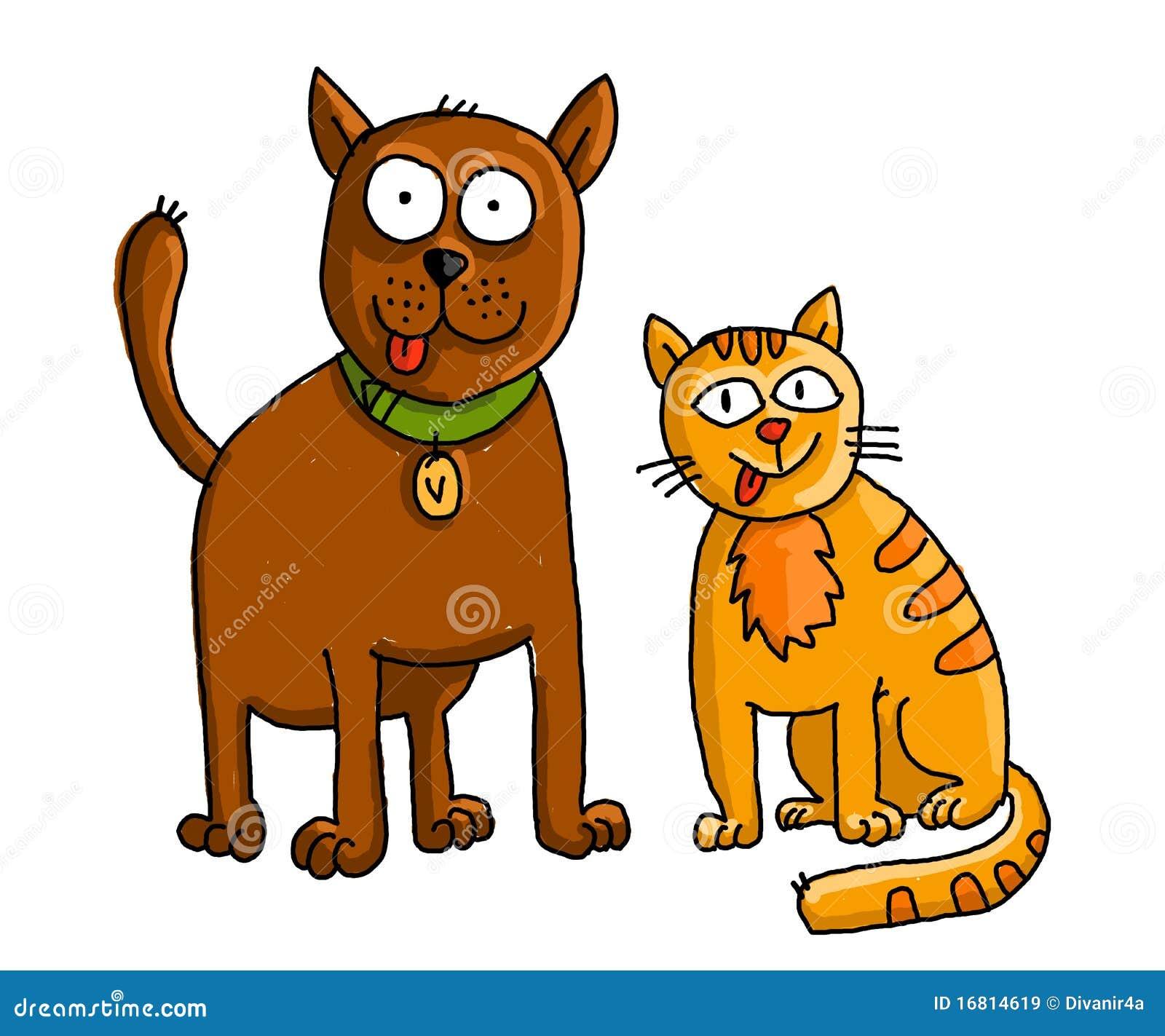 Gato y perro divertidos