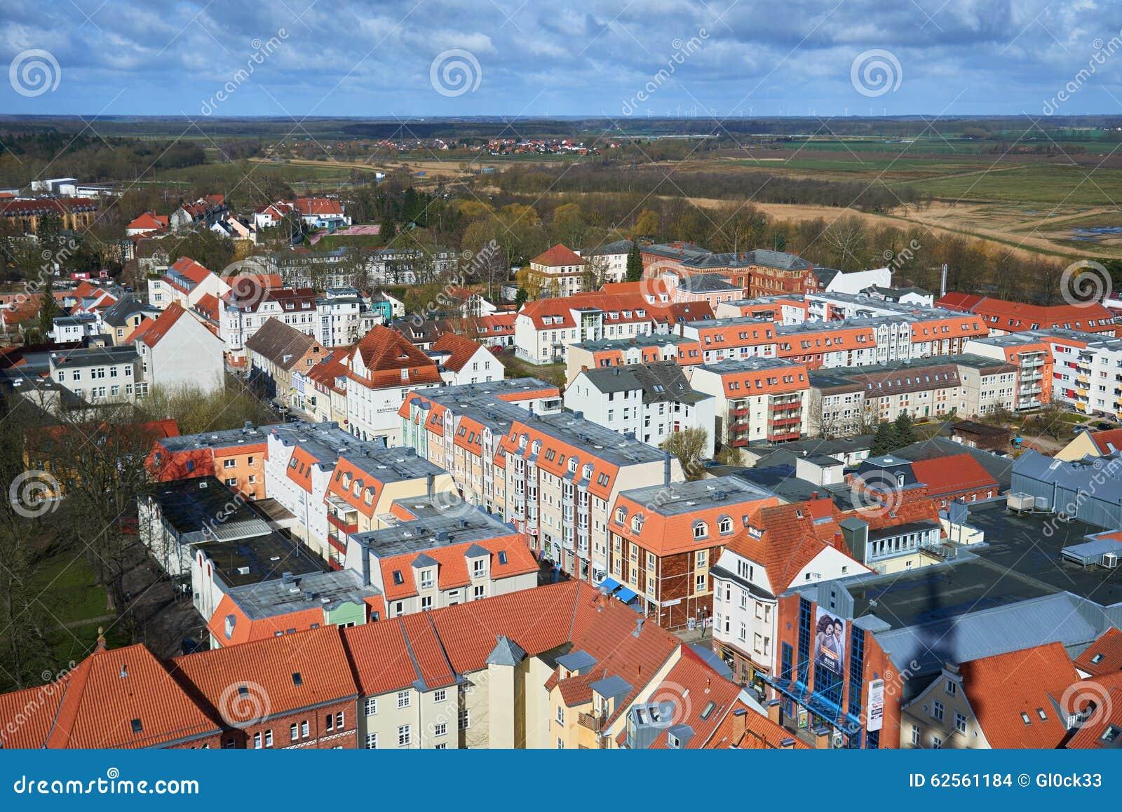 Gator av den historiska mitten Greifswald