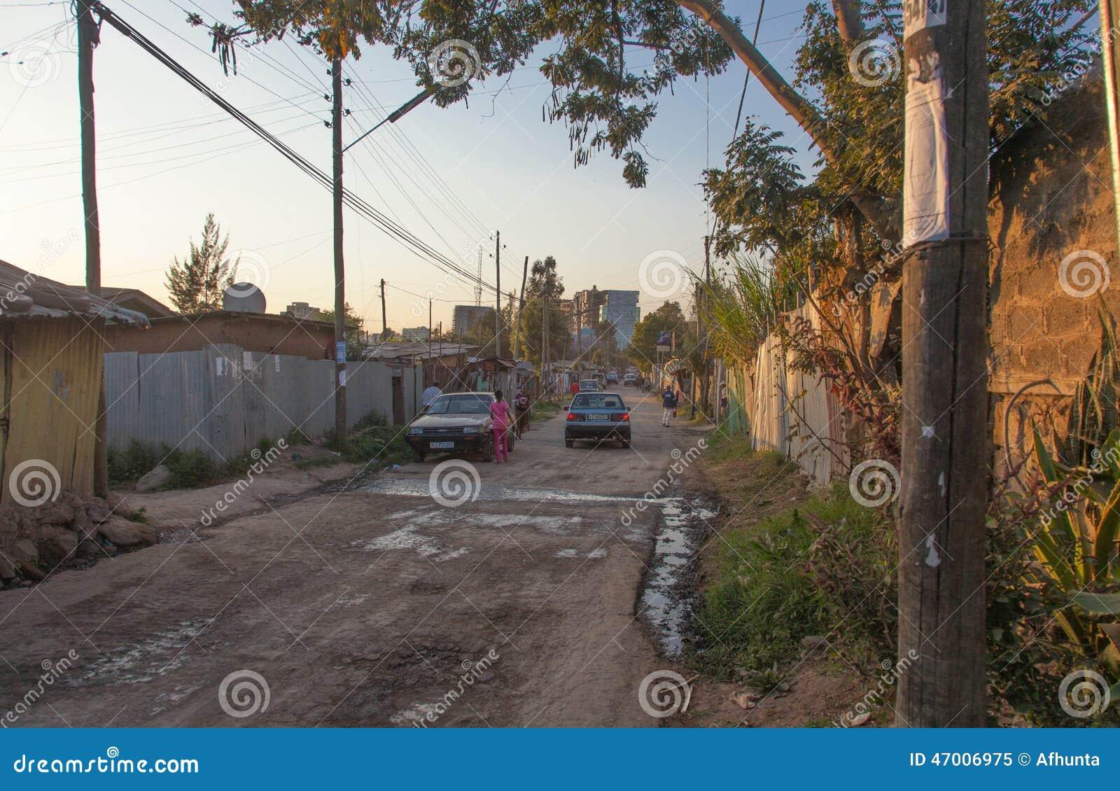 Gatorna av Addis Ababa Ethiopia