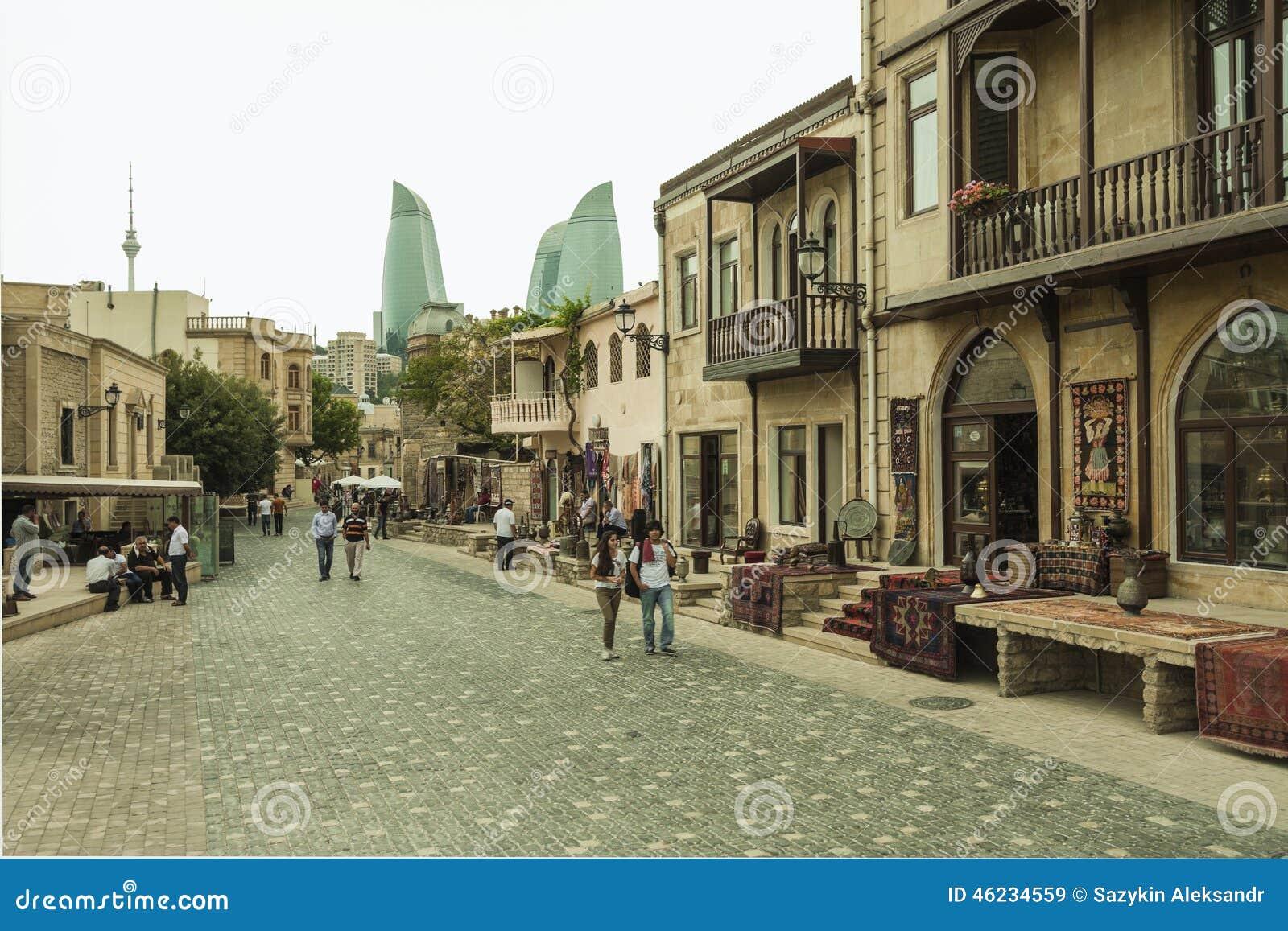 Gatorna av centret av Baku, Azerbajdzjan
