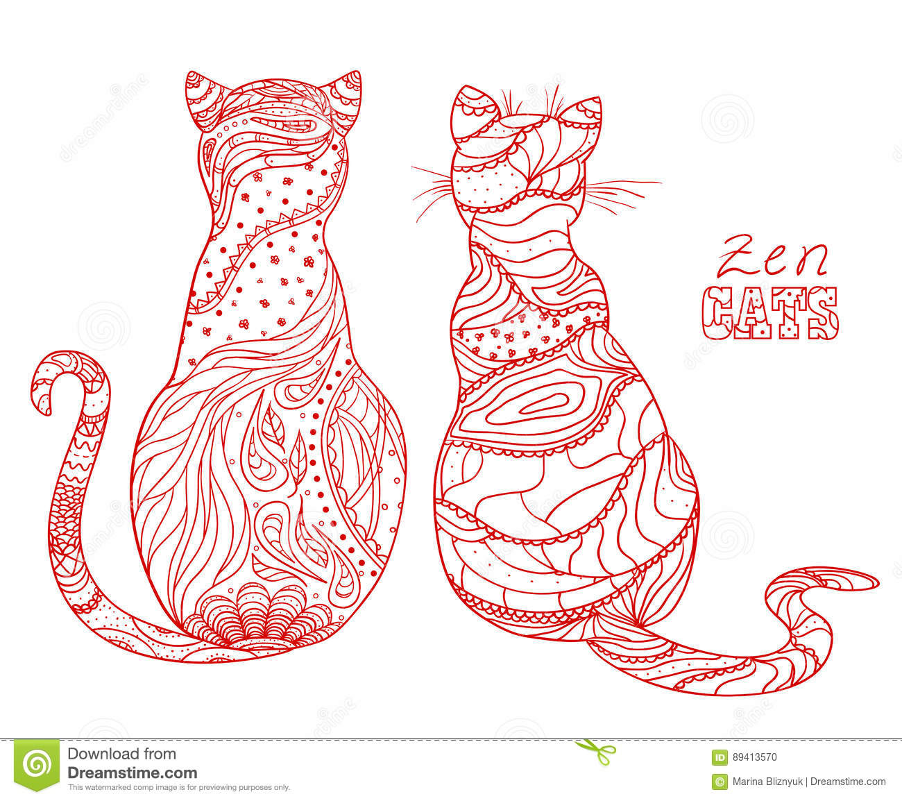 Gatos Arte do zen