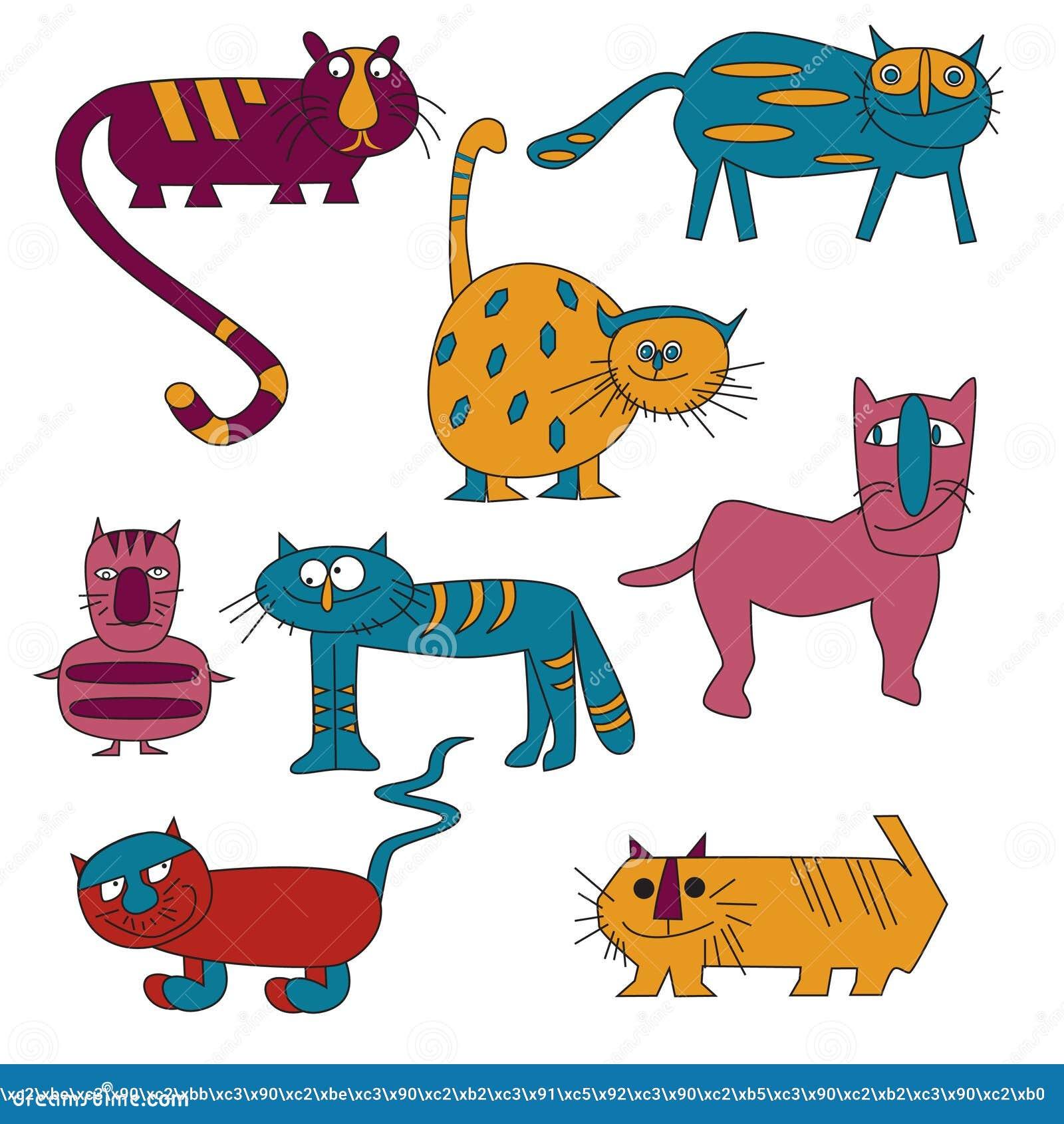 Gatos borrachos Imagenes de archivo