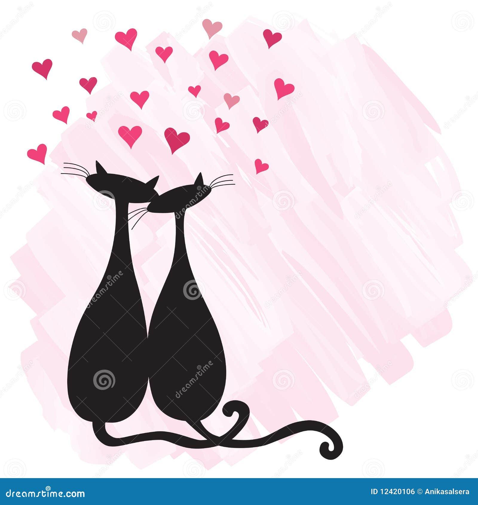 amor de silueta gato - photo #30