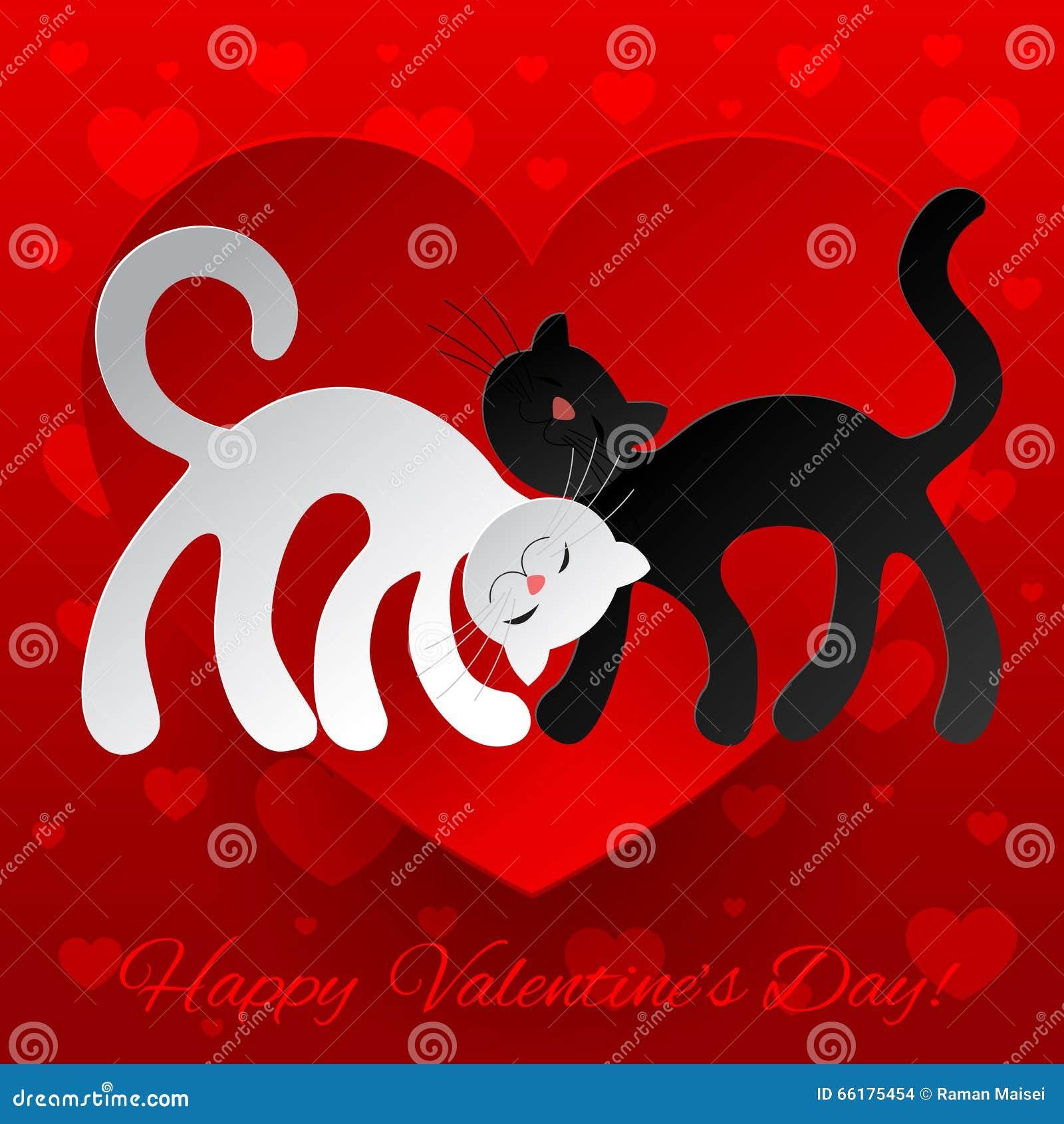 Gatos Enamorados Ilustraciones Stock Vectores Y Clipart 73