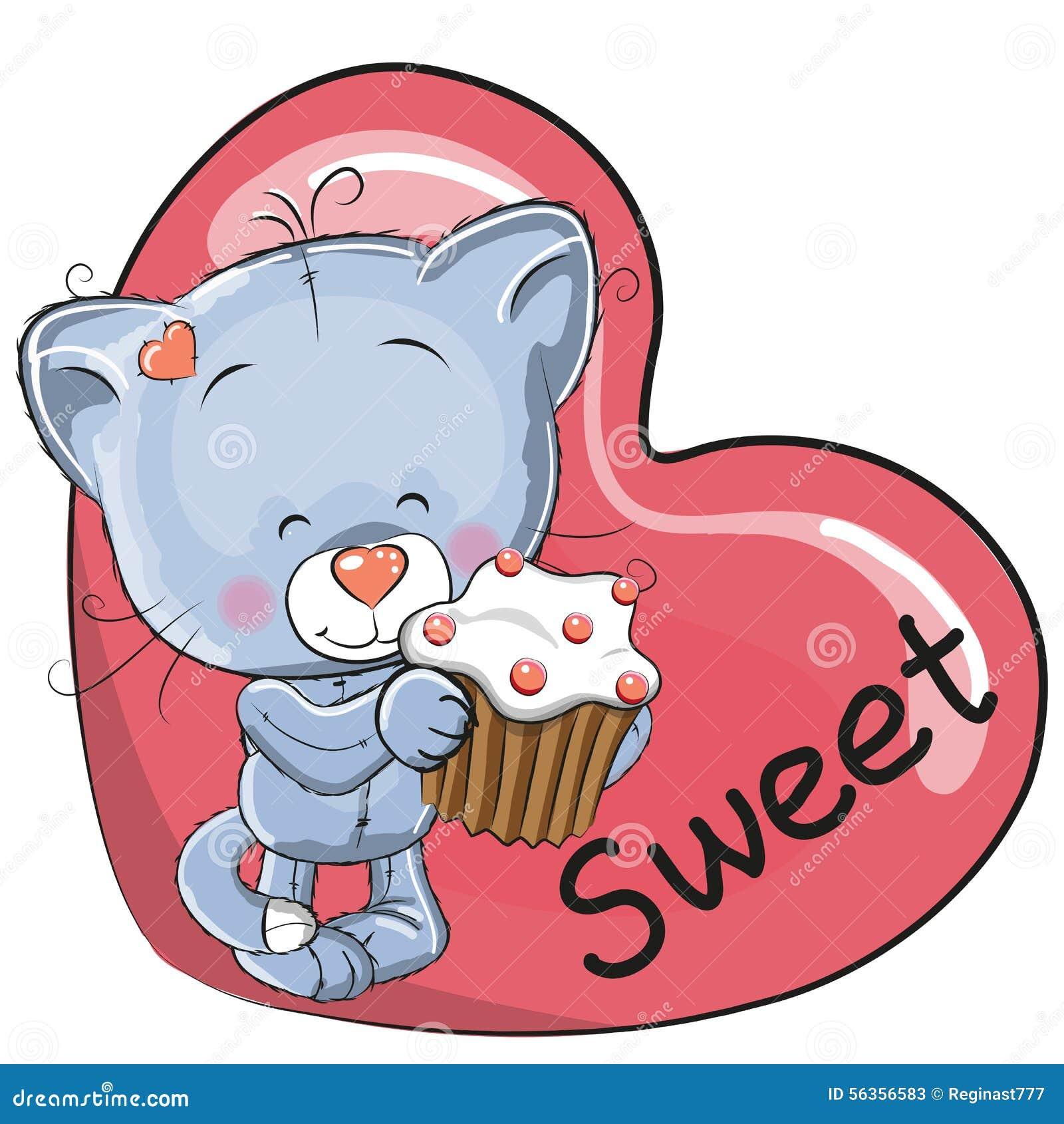 Gattino con il dolce