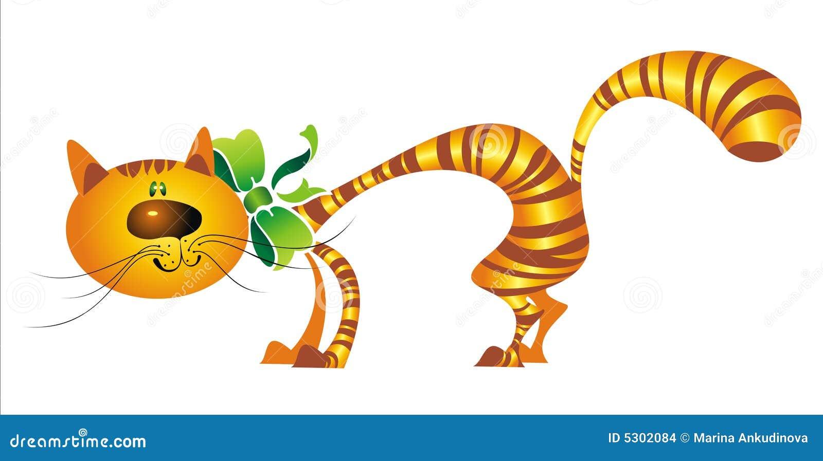 Download Gatto Del Fumetto Con L'arco Illustrazione di Stock - Illustrazione di felicità, arte: 5302084