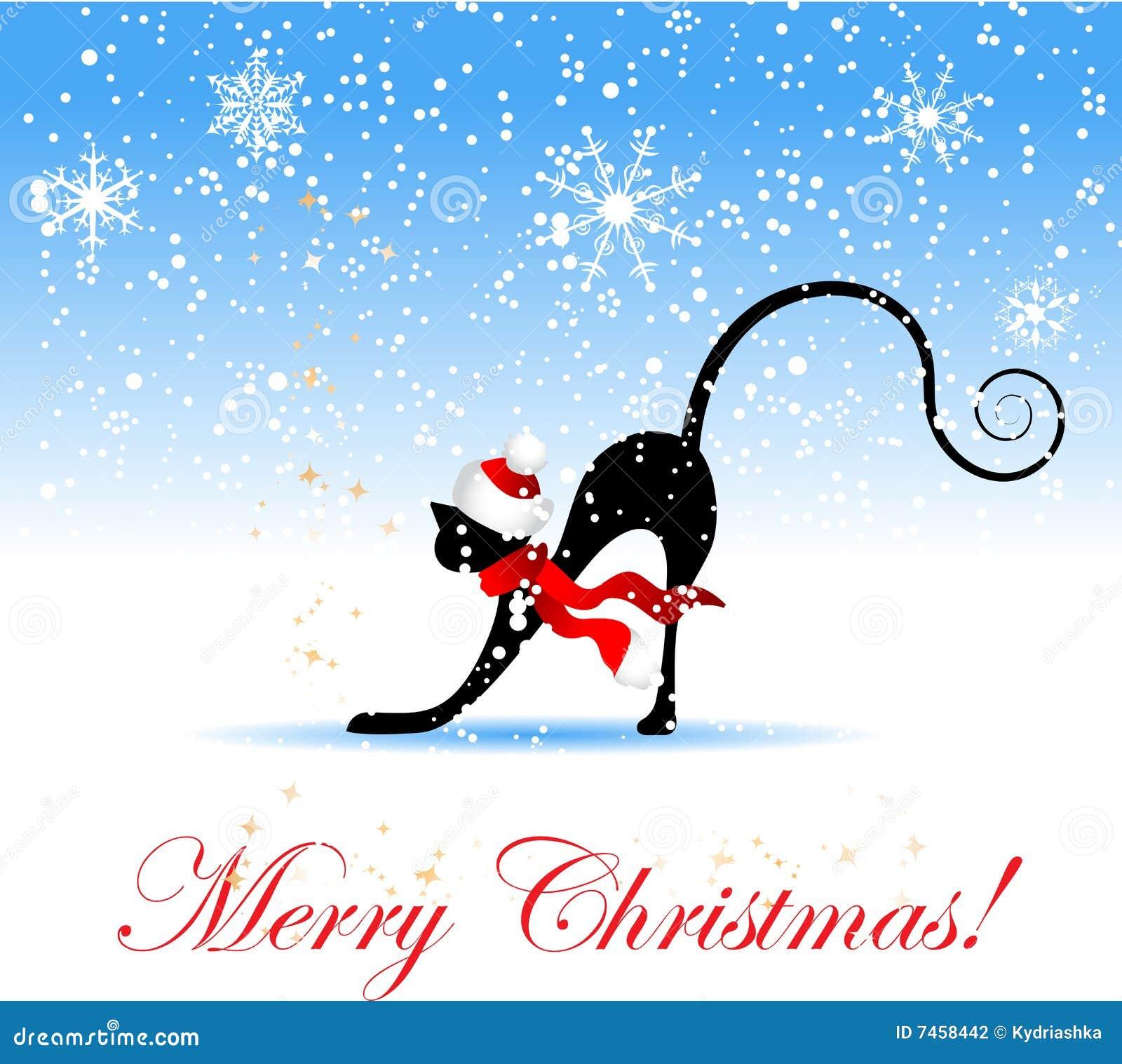 Disegni gatti natalizi