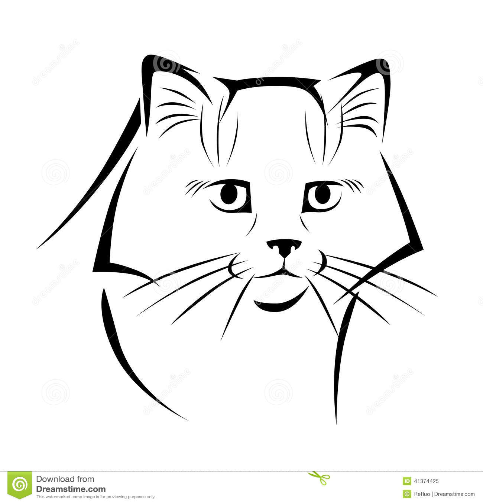 Gatto Stilizzato 3 Illustrazione Vettoriale Illustrazione Di