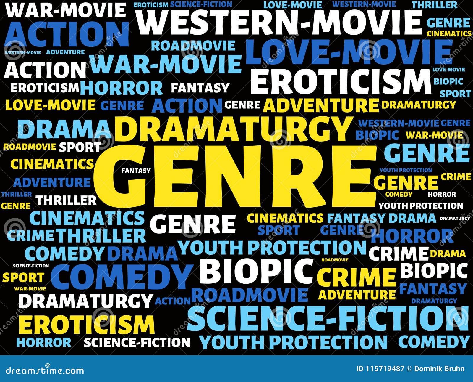 GATUNEK - wizerunek z słowami kojarzącymi z tematu filmem, słowo, wizerunek, ilustracja