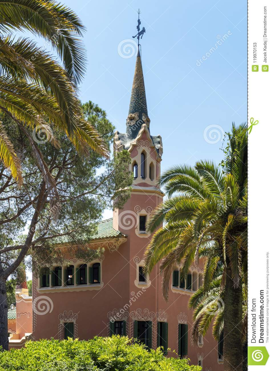Gaudi house in Park Guell