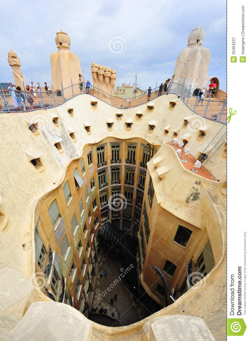 Gaudi S Casa Milla Barcelona Spain Editorial