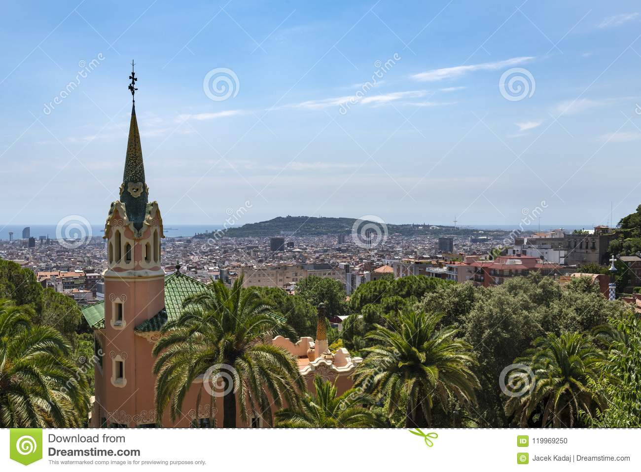 Gaudihuis in park Guell