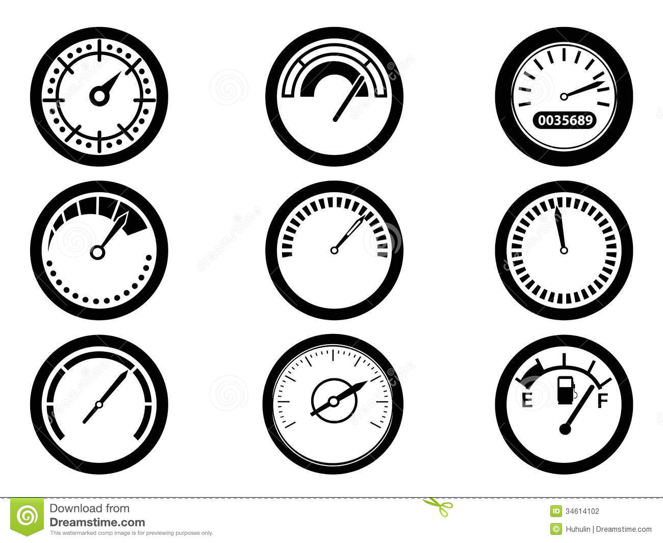 Gauge Icons Stock Vector Illustration Of Display Gauge 34614102