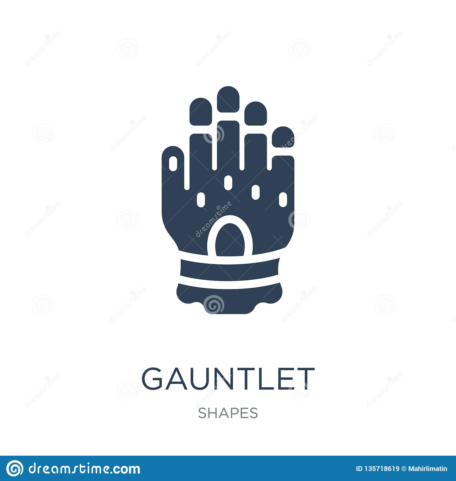 Gauntlet Icon In Trendy Design Style  Gauntlet Icon Isolated
