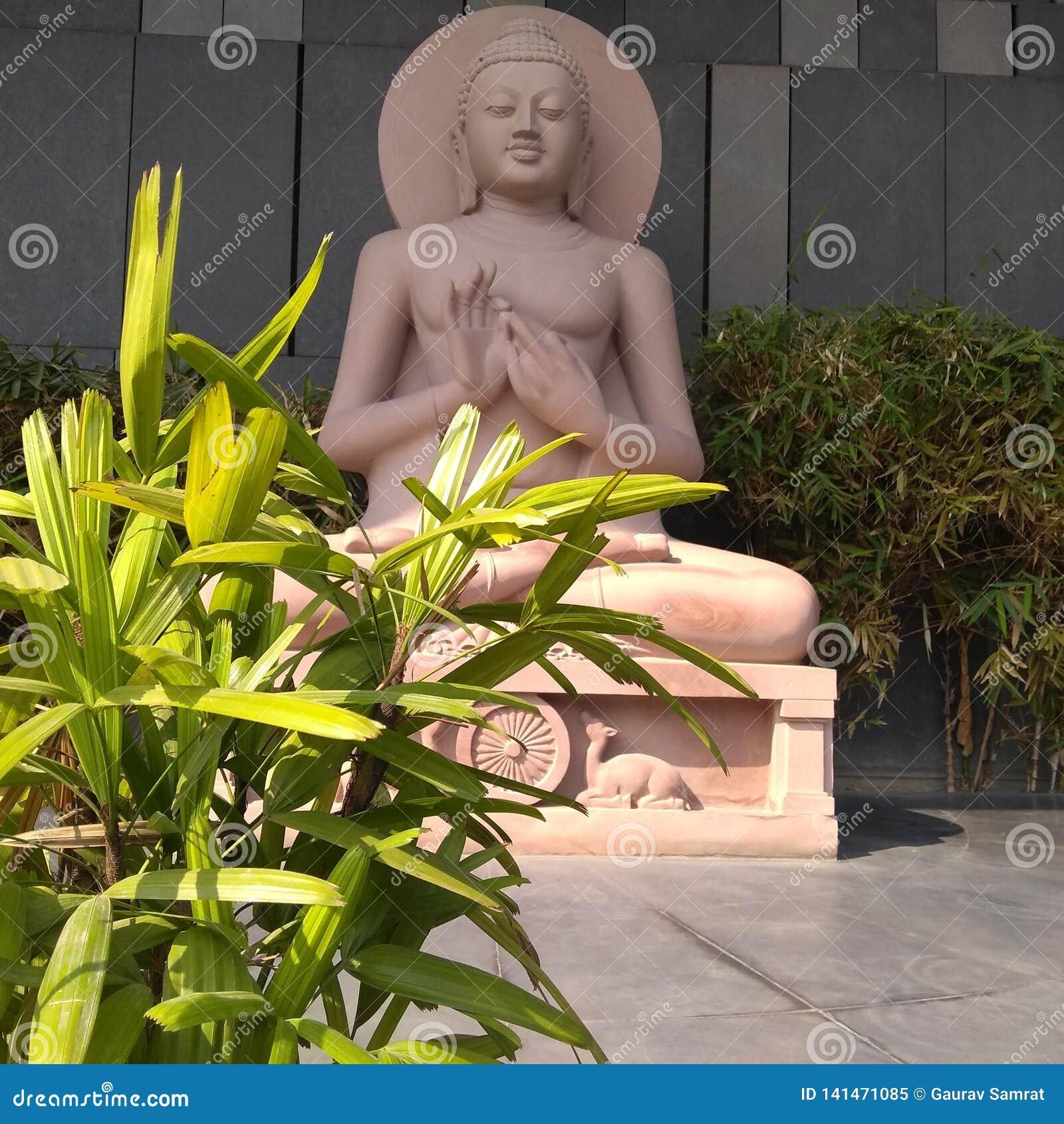 Gautam Buddha staty på Buddha Smriti Park, Patna