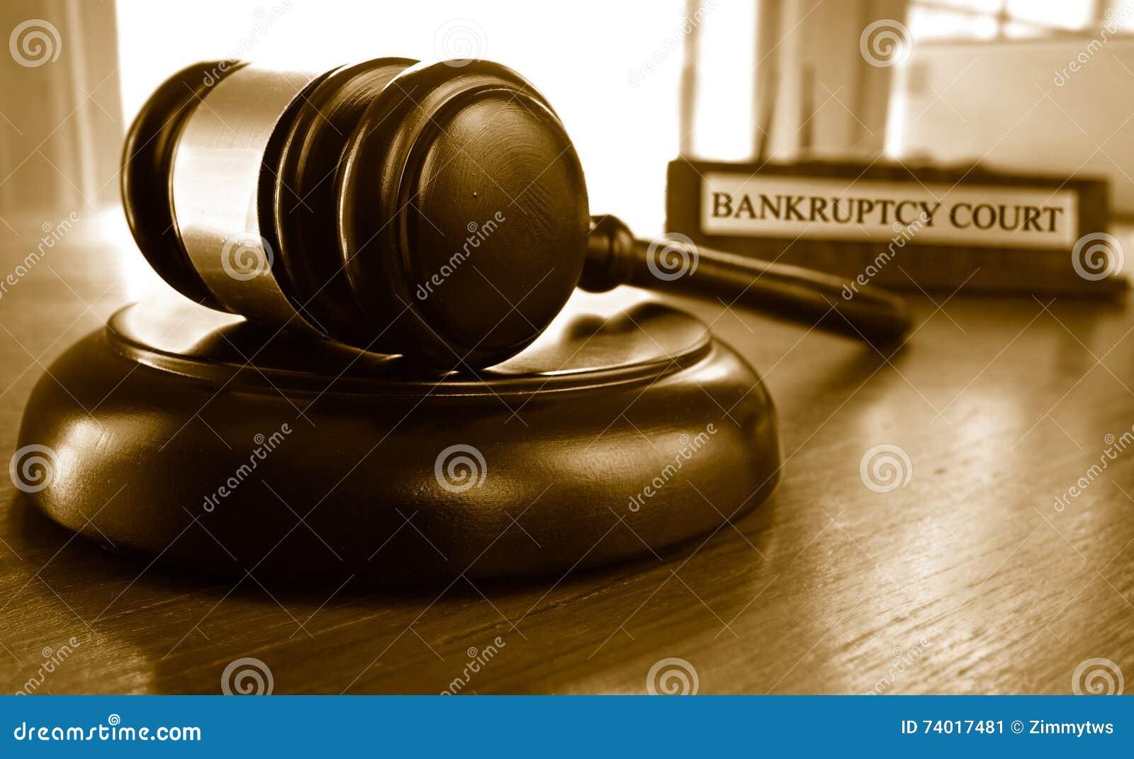 Gavel δικαστηρίων πτώχευσης