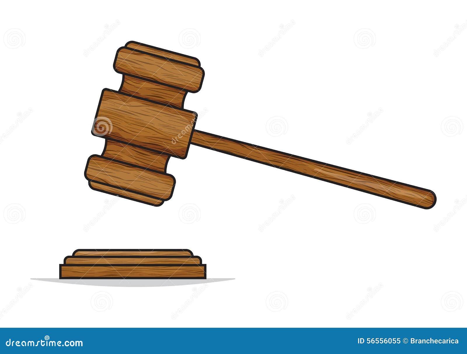 Gavel δικαστών ή σφυρί δημοπρασίας