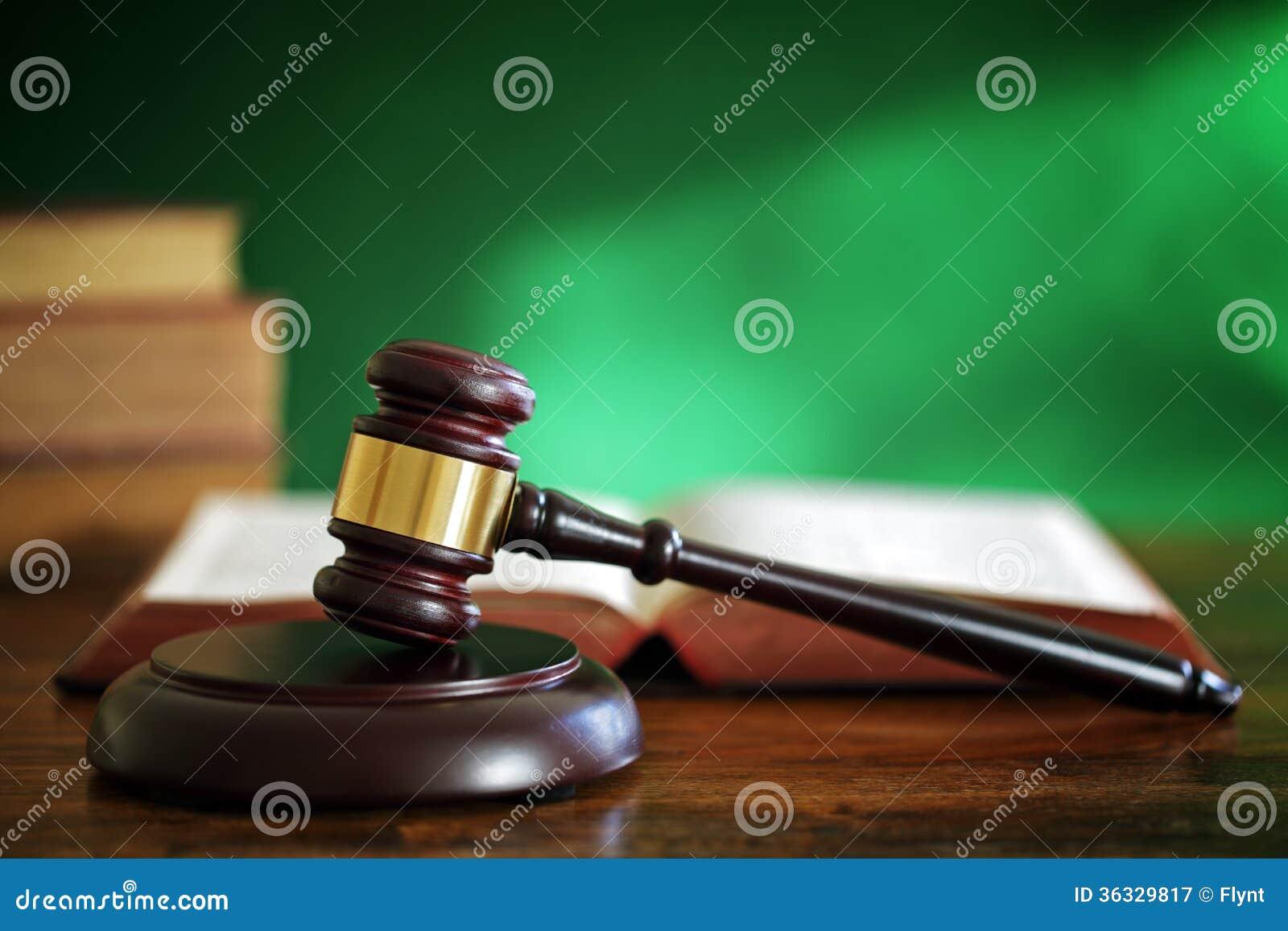Gavel και νόμου βιβλία
