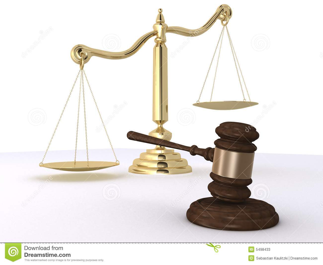 Gavel And Scale Stock Photos - Image: 5498433