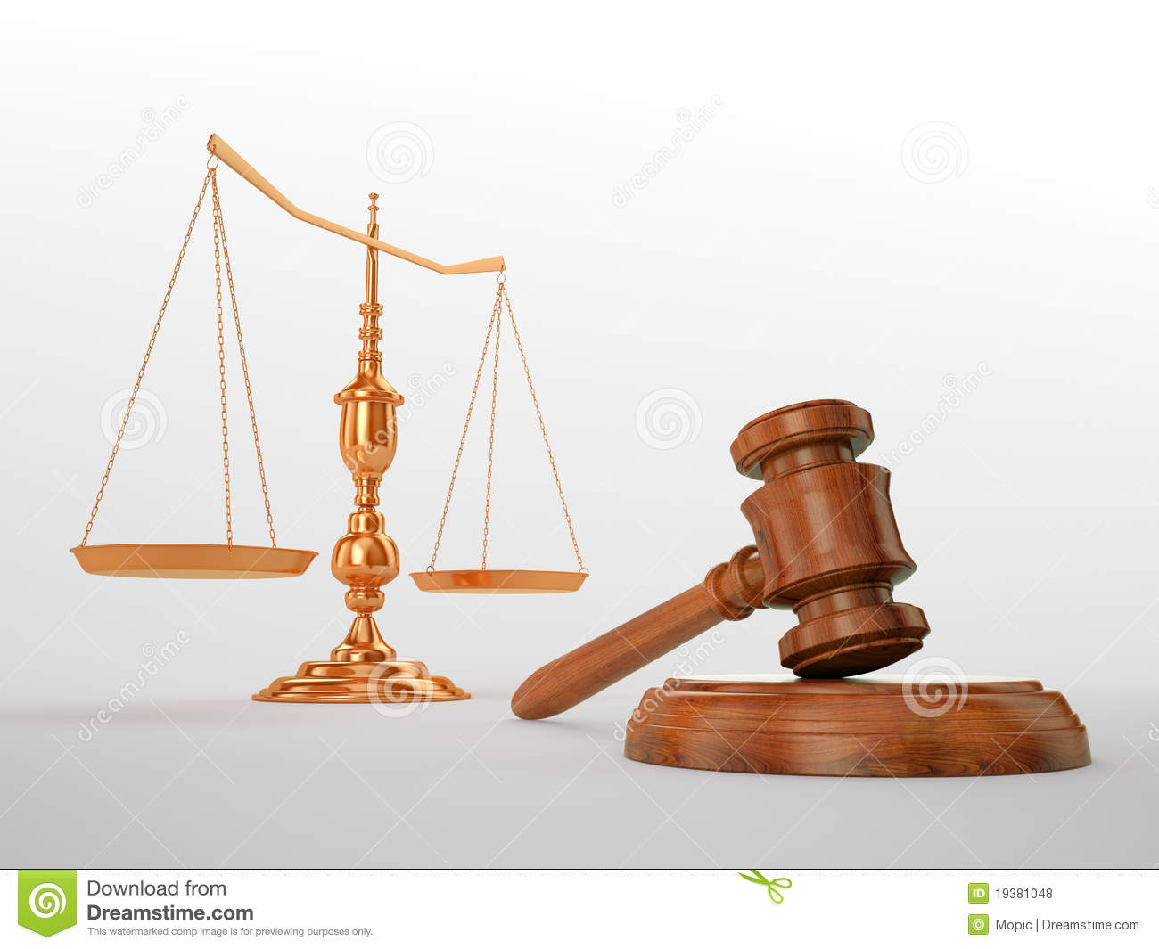 Gavel and scales stock illustration. Illustration of ...