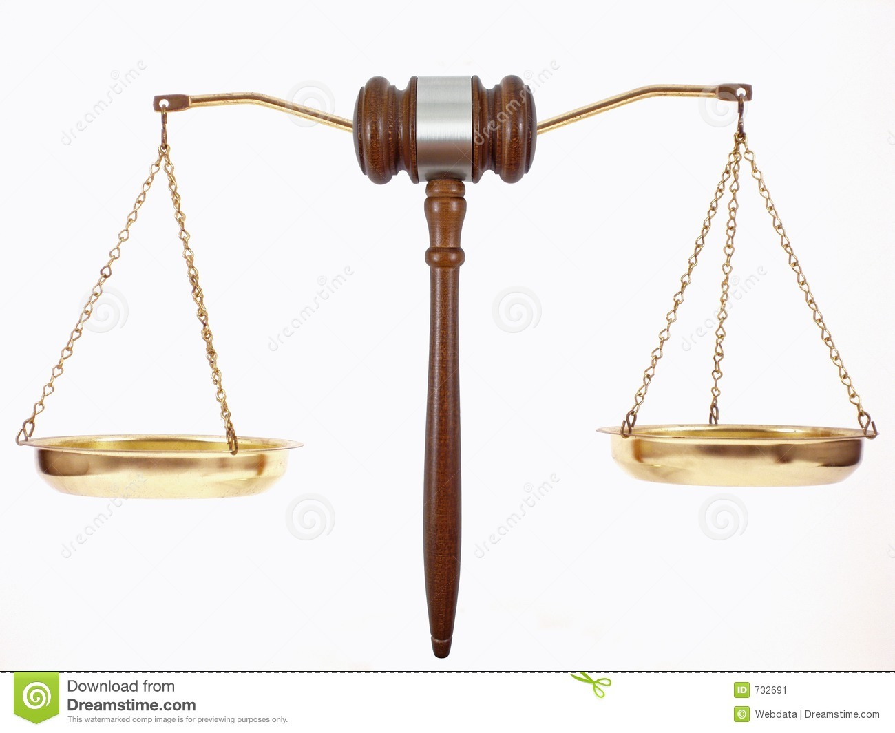 Gavel Scales Stock Image - Image: 732691