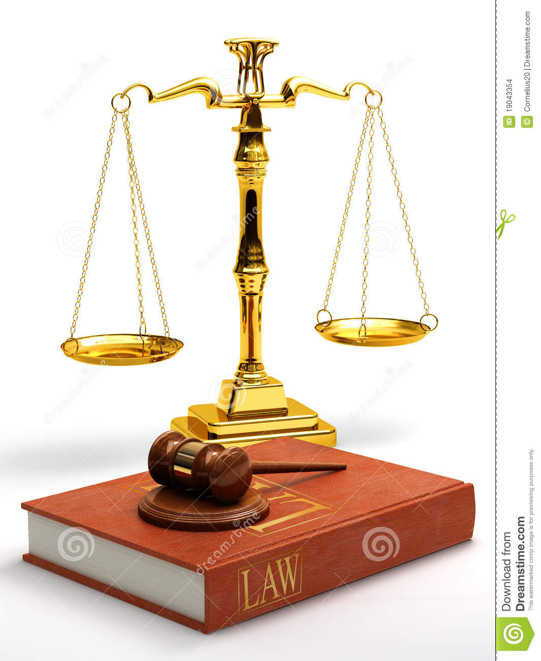 Gavel, Scales And Law Book Stock Images - Image: 19043354