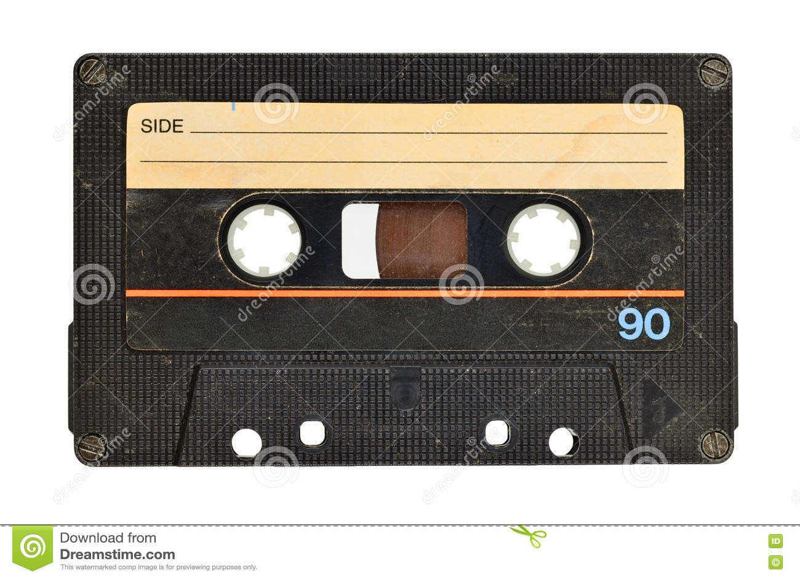 Gaveta de cassete áudio velha