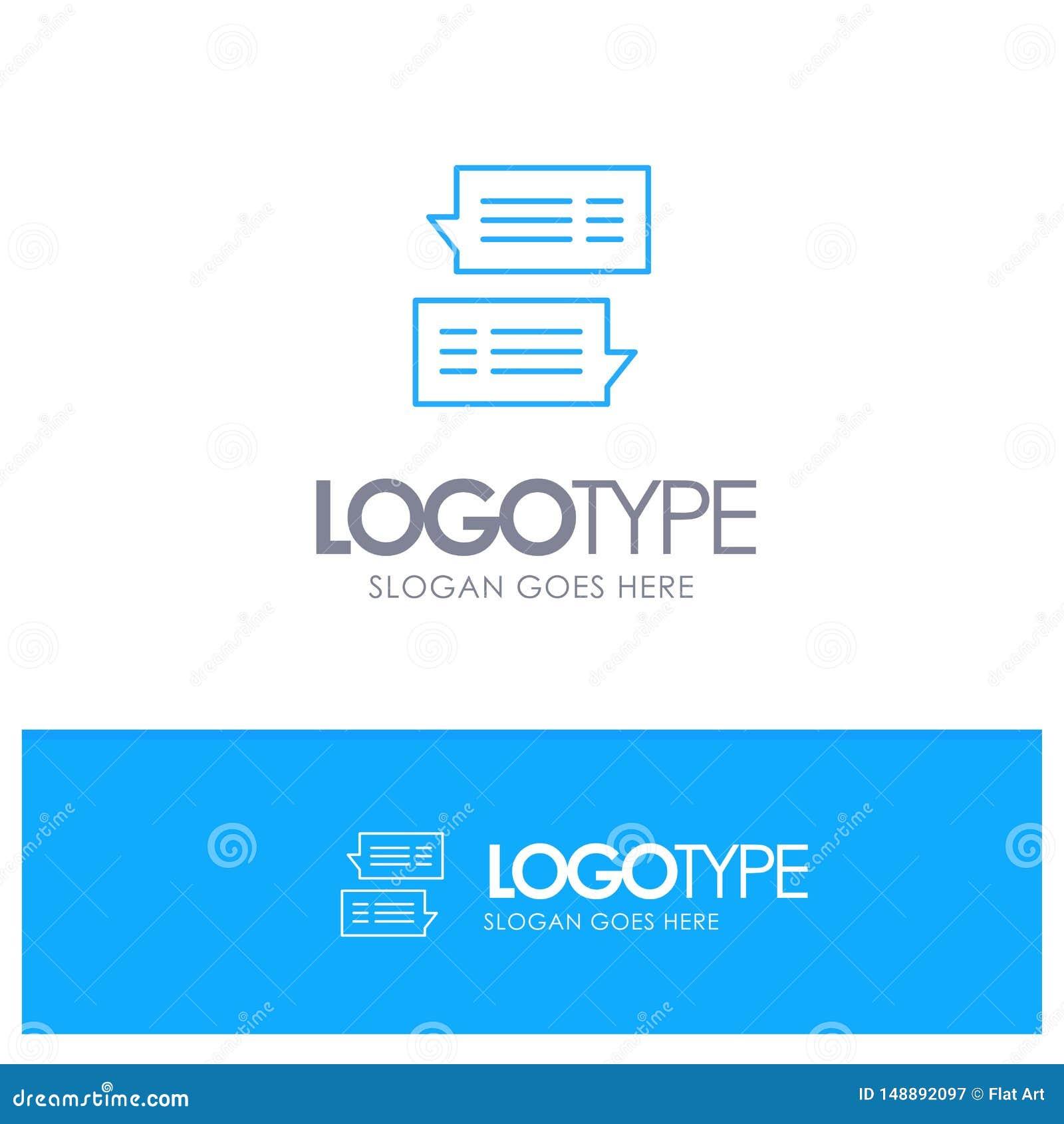 Gawędzi, Gulgocze, poczta, wiadomość, rozmowa konturu Błękitny logo z miejscem dla tagline