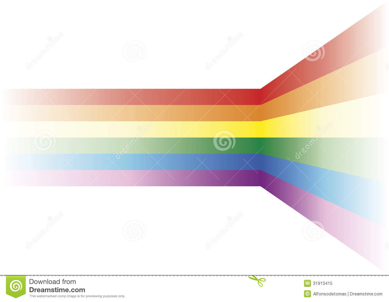 Decorative element with the gay flag Vector