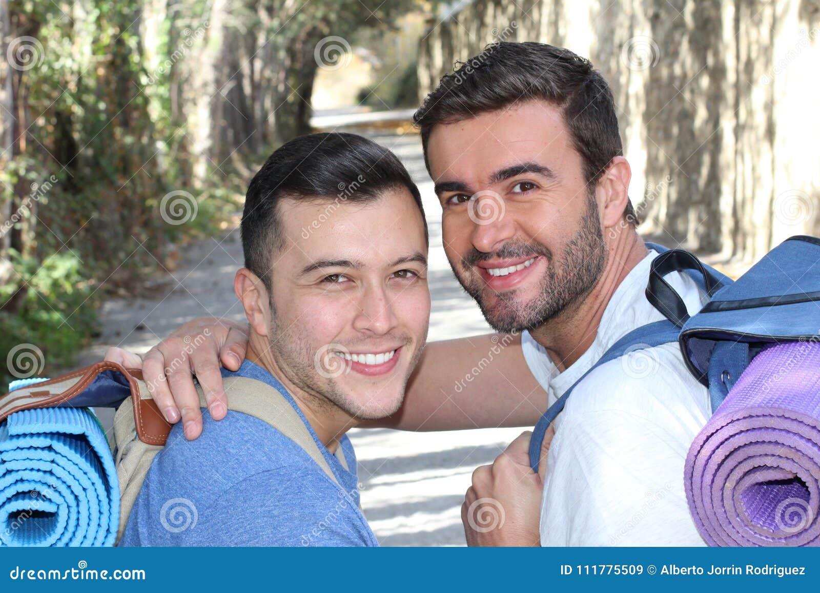 Gay couple enjoying a hike