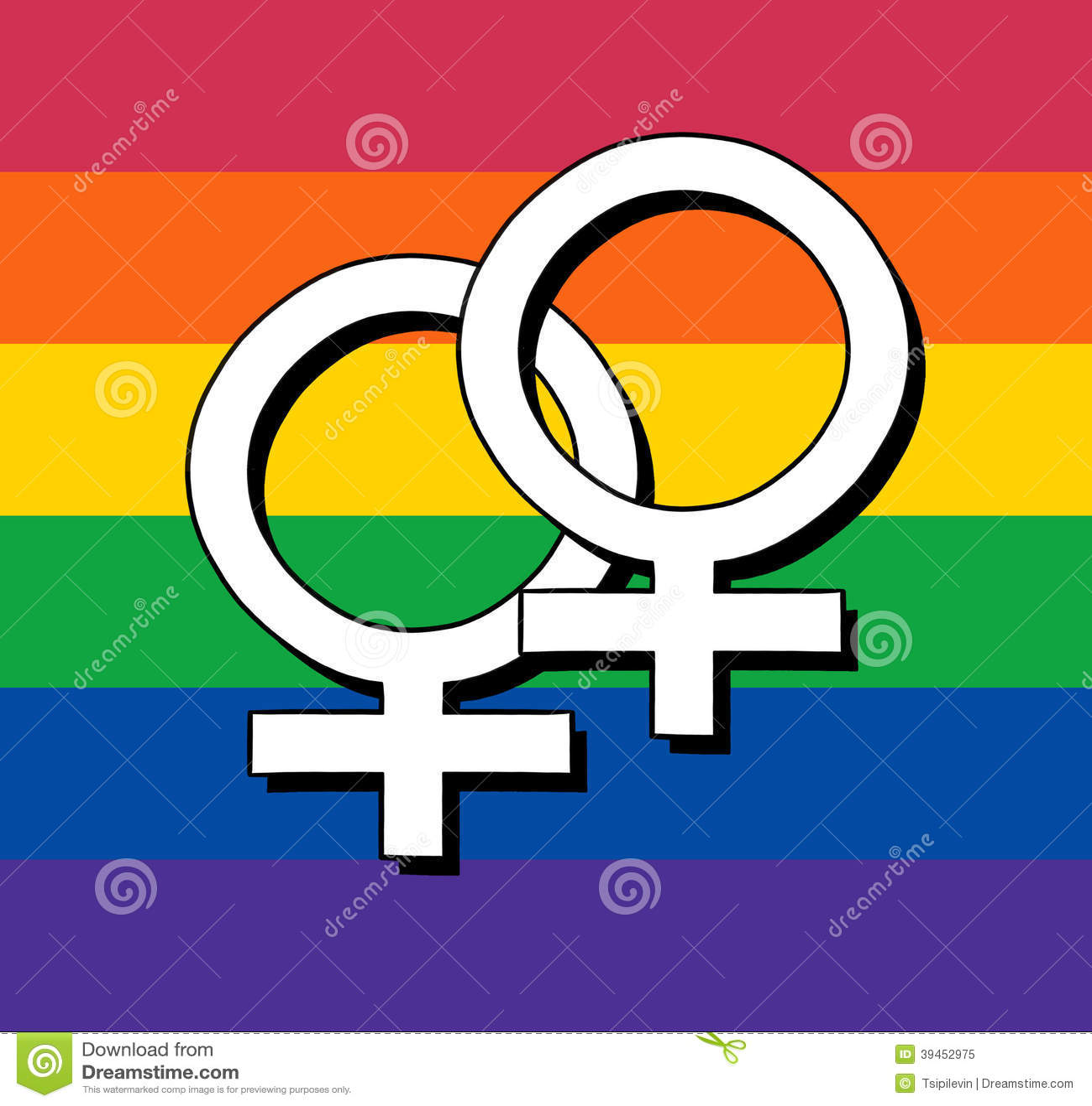 Gay flag with female symbol stock illustration illustration of gay flag with female symbol buycottarizona