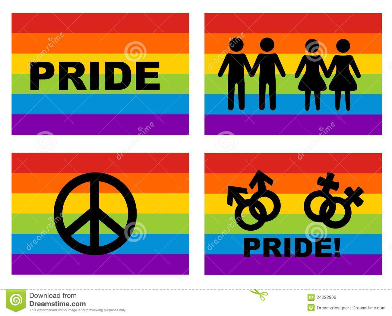 gay flag and icons royalty free stock image image 24222906