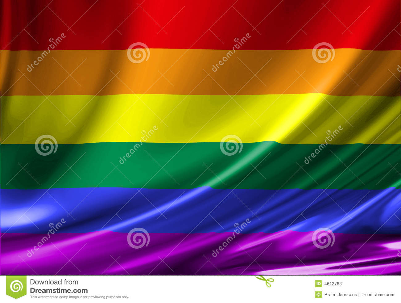 Gay Pride Flag Stock Photos - Image: 4612783