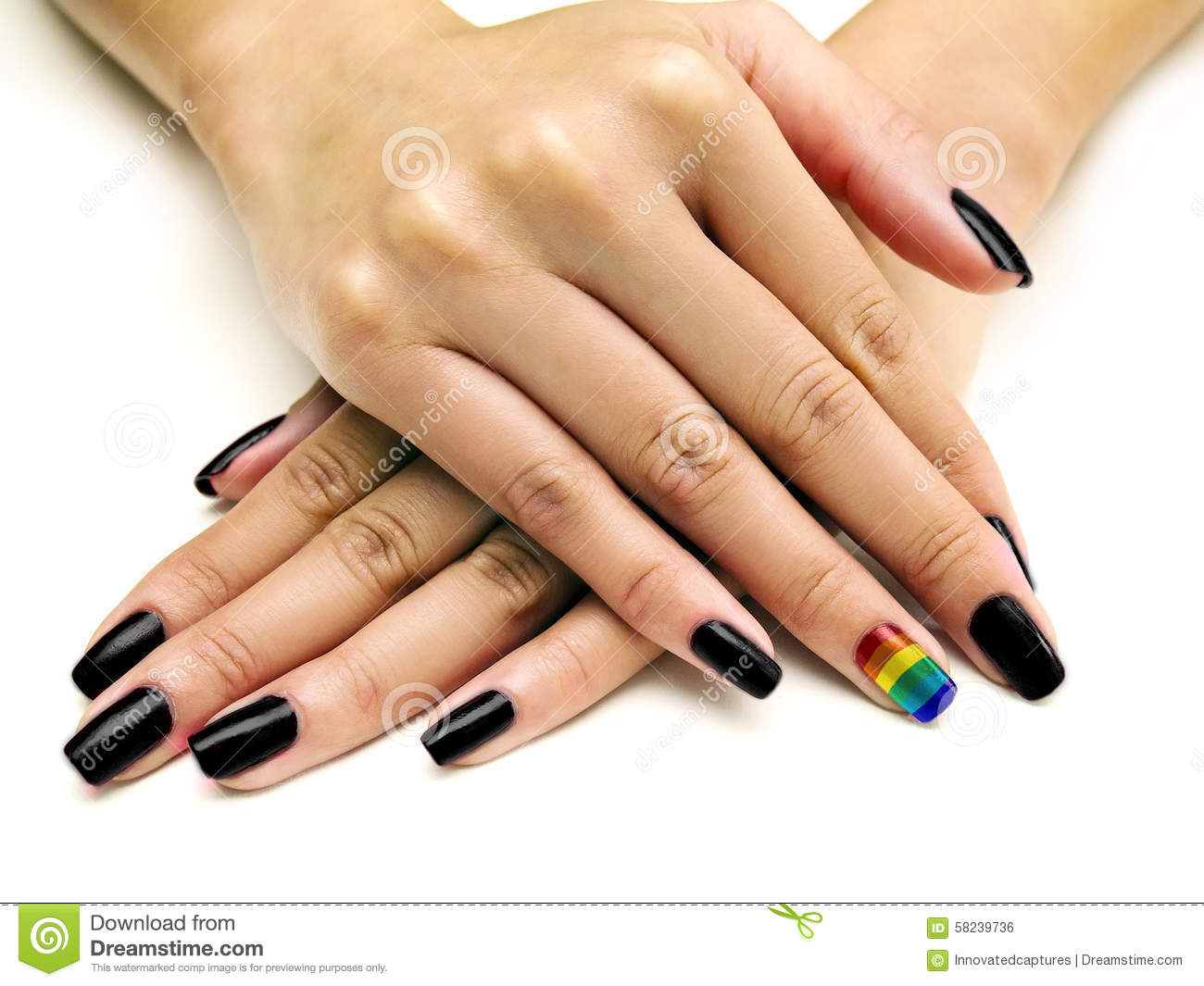 Gay Pride Manicure Stock Photo Image Of Closeup Hand 58239736