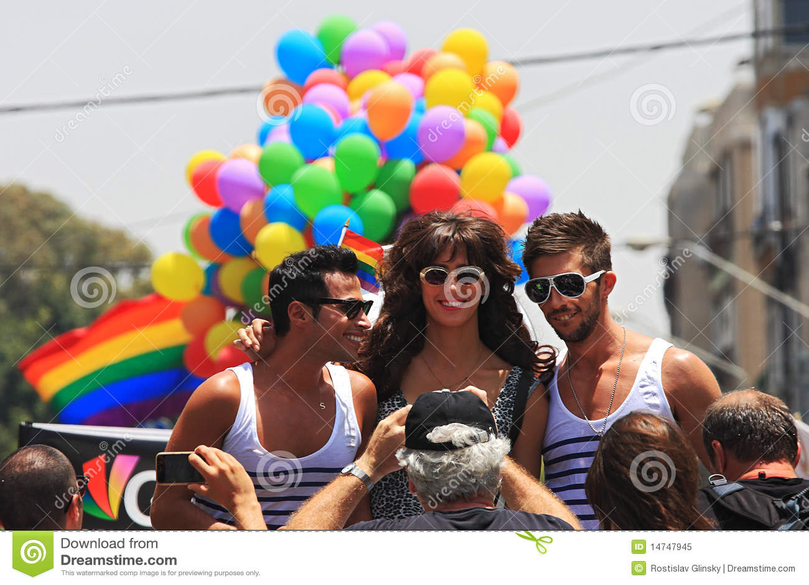 Gay Pride Parade in Tel Aviv, Israel.