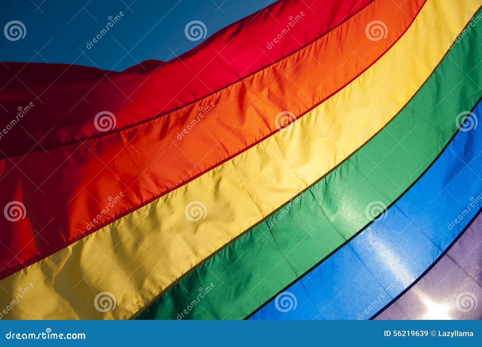 Gay Pride Rainbow Flag Background