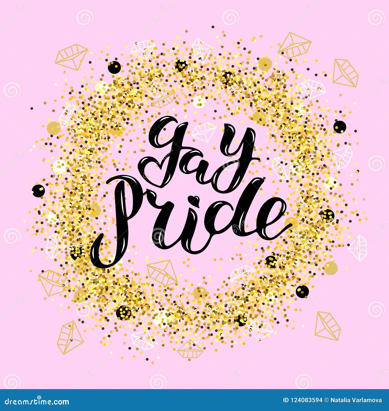 Hand written lettering Gay Pride as logo, badge