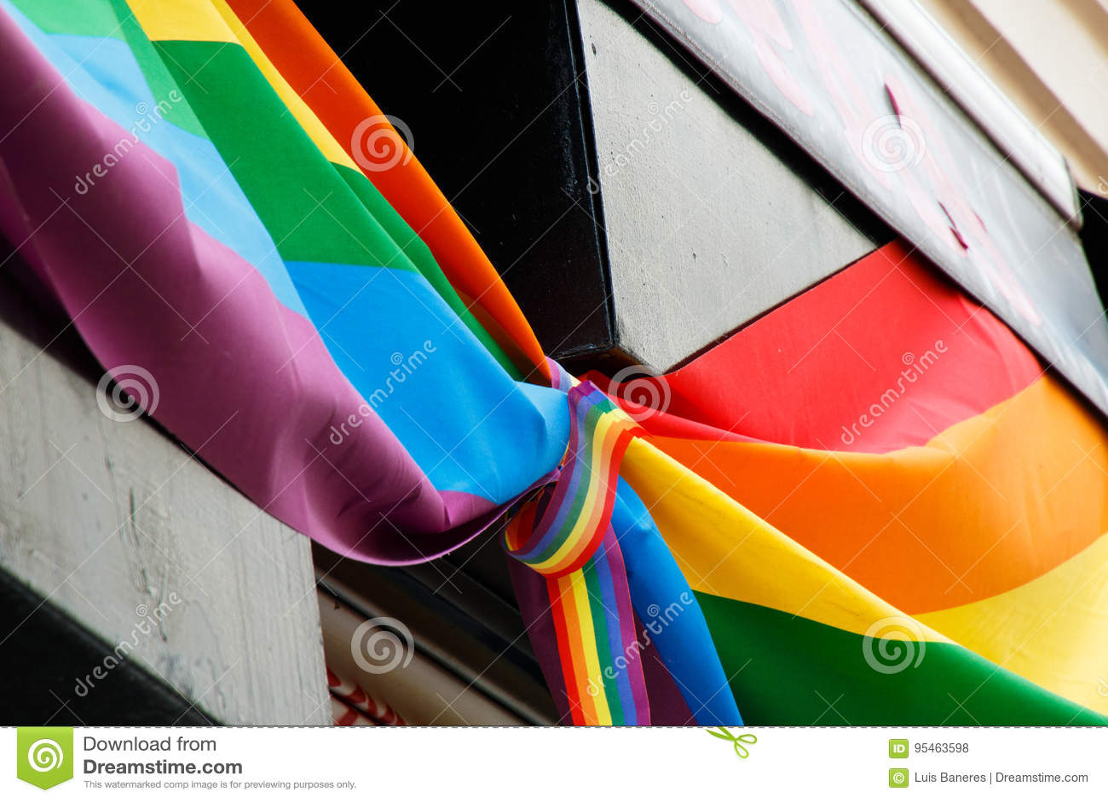 Gay pride tie