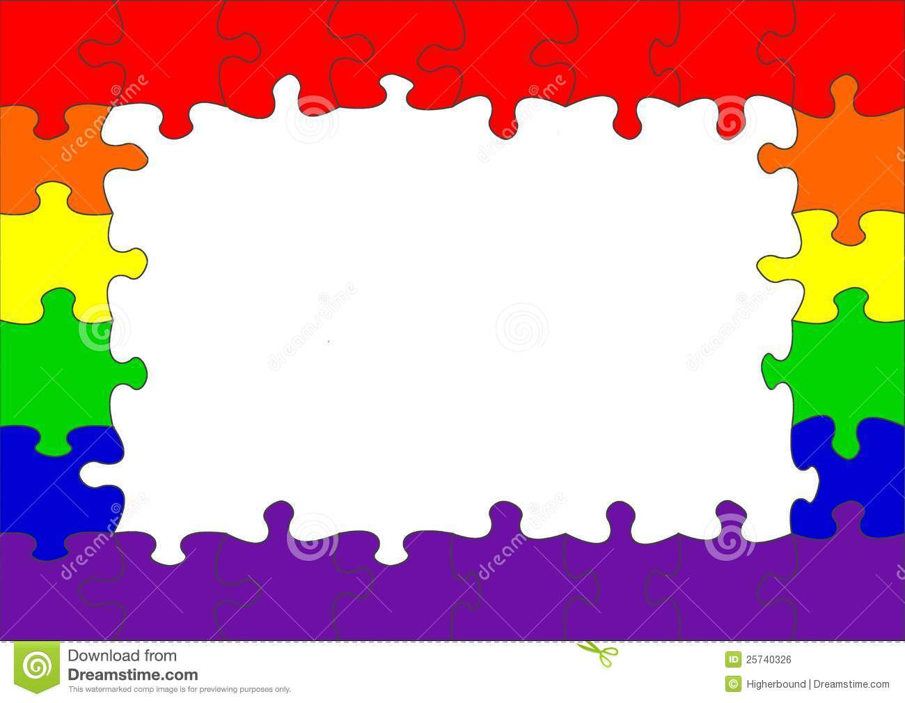 Puzzle border showing a rainbow flag, often association with the gay ... Al Pacino