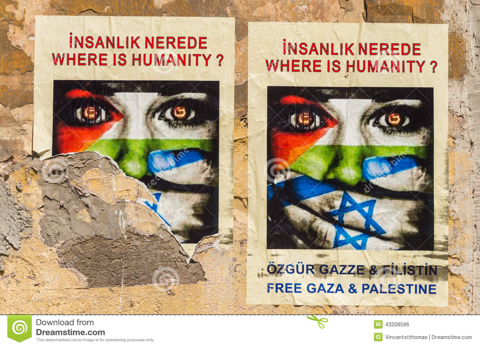 Download Gaza affischer redaktionell bild. Bild av östligt, israel - 43208596