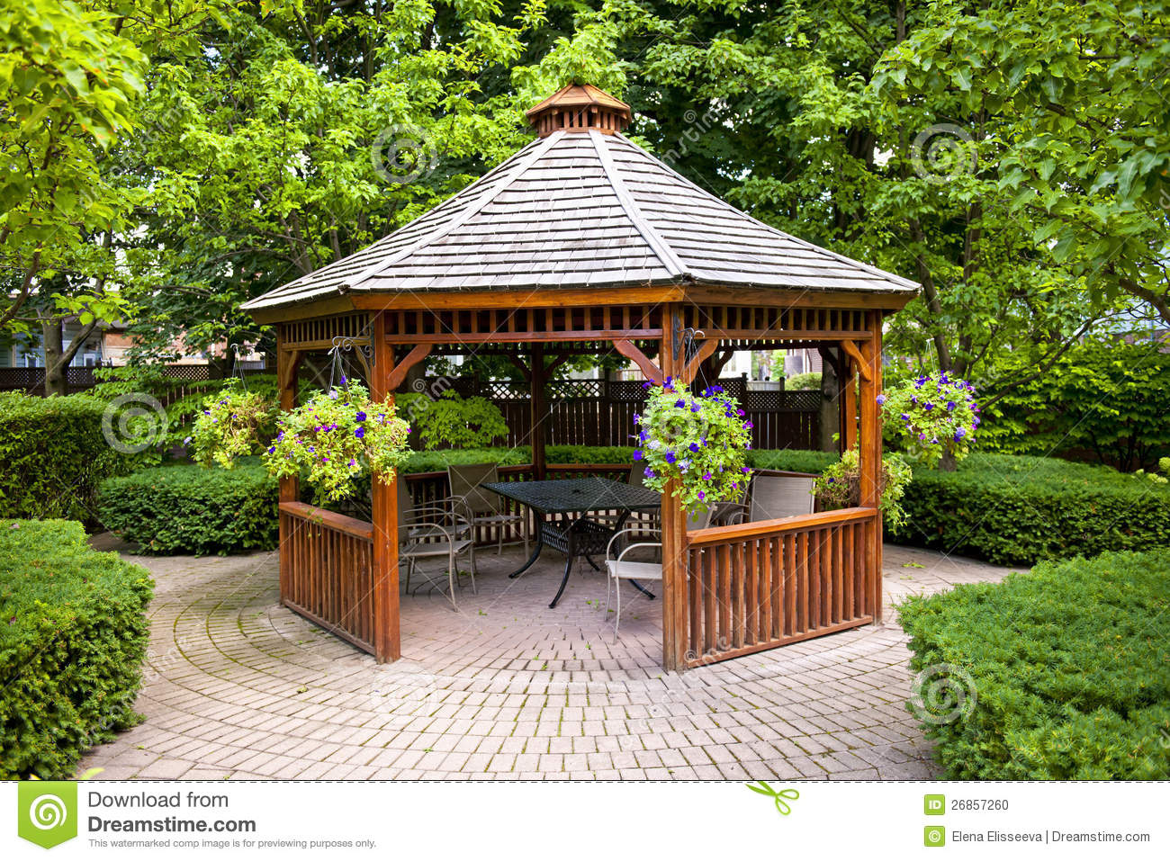Beautiful Gazebo In Garden