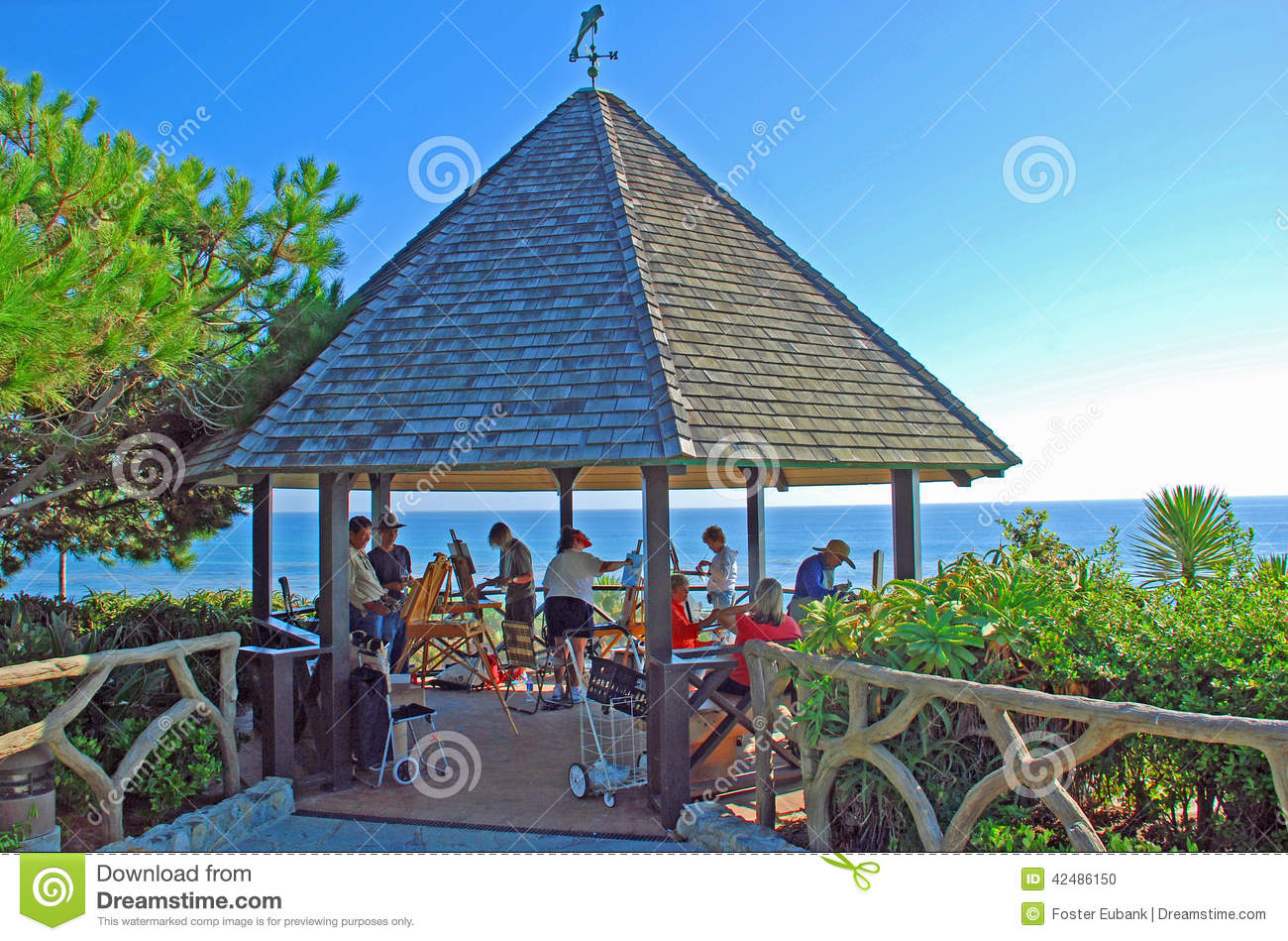 Gazebo At Heisler Park Laguna Beach California