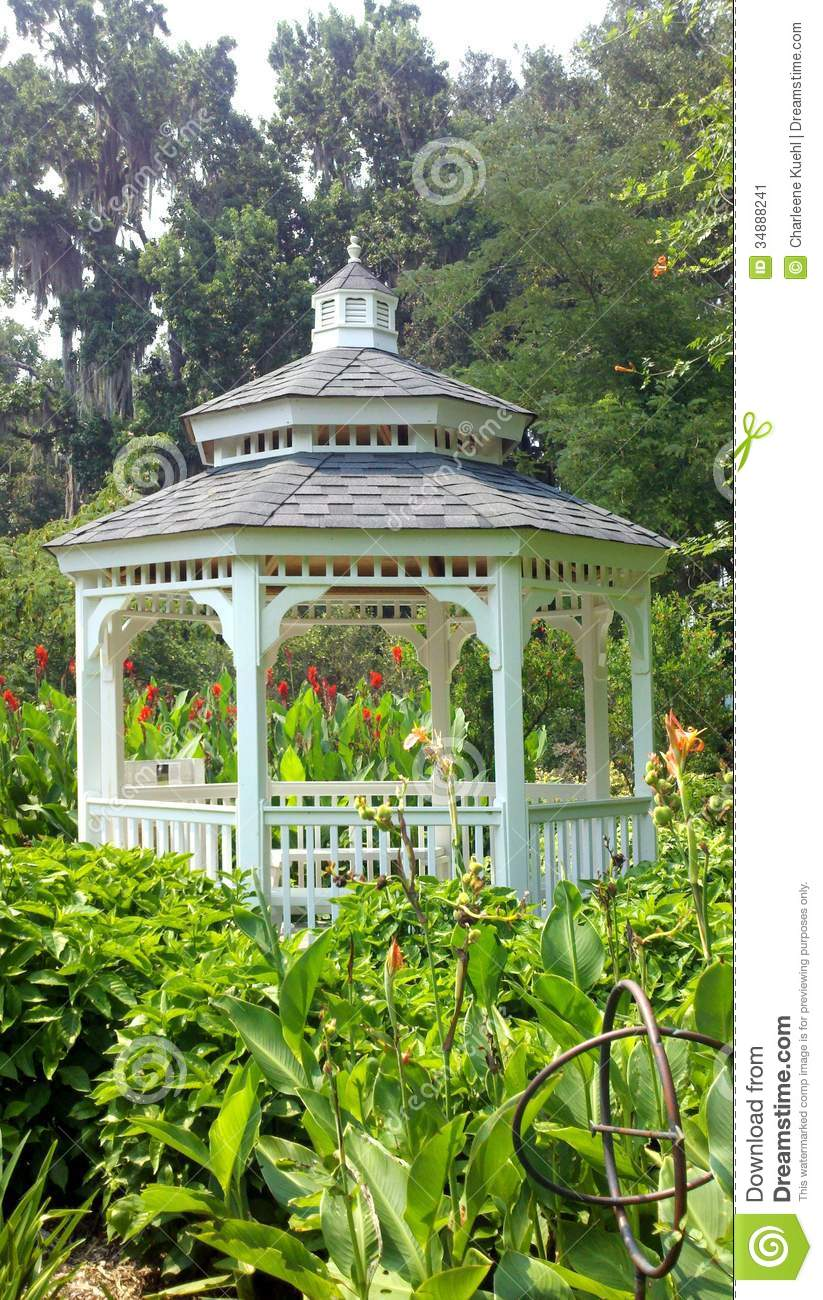 Gazebo at kanapaha stock image image 34888241 - Botanical gardens gainesville fl ...