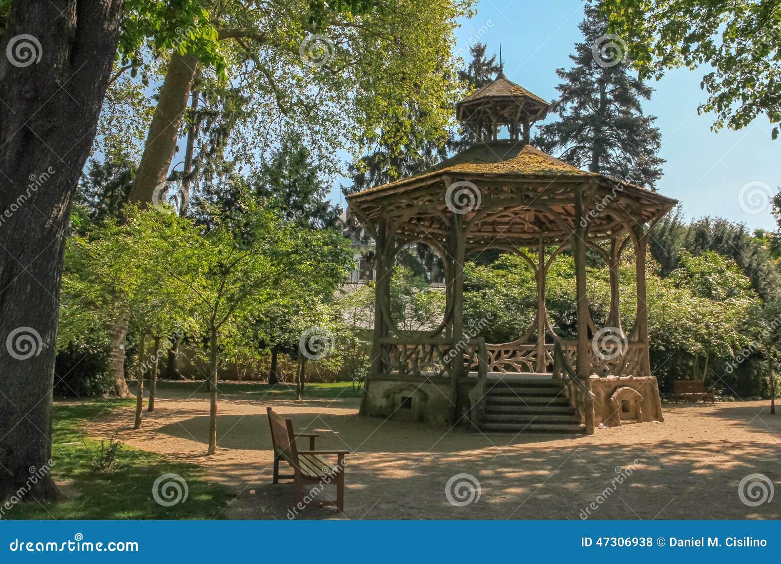 Gazebo At Mirabeau Park Tours France Stock Photo Image