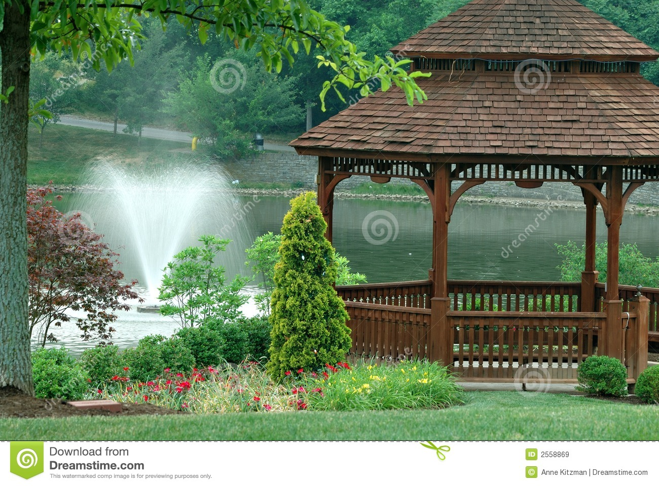 Gazebo On The Pond Stock Image Image Of Structure Calm
