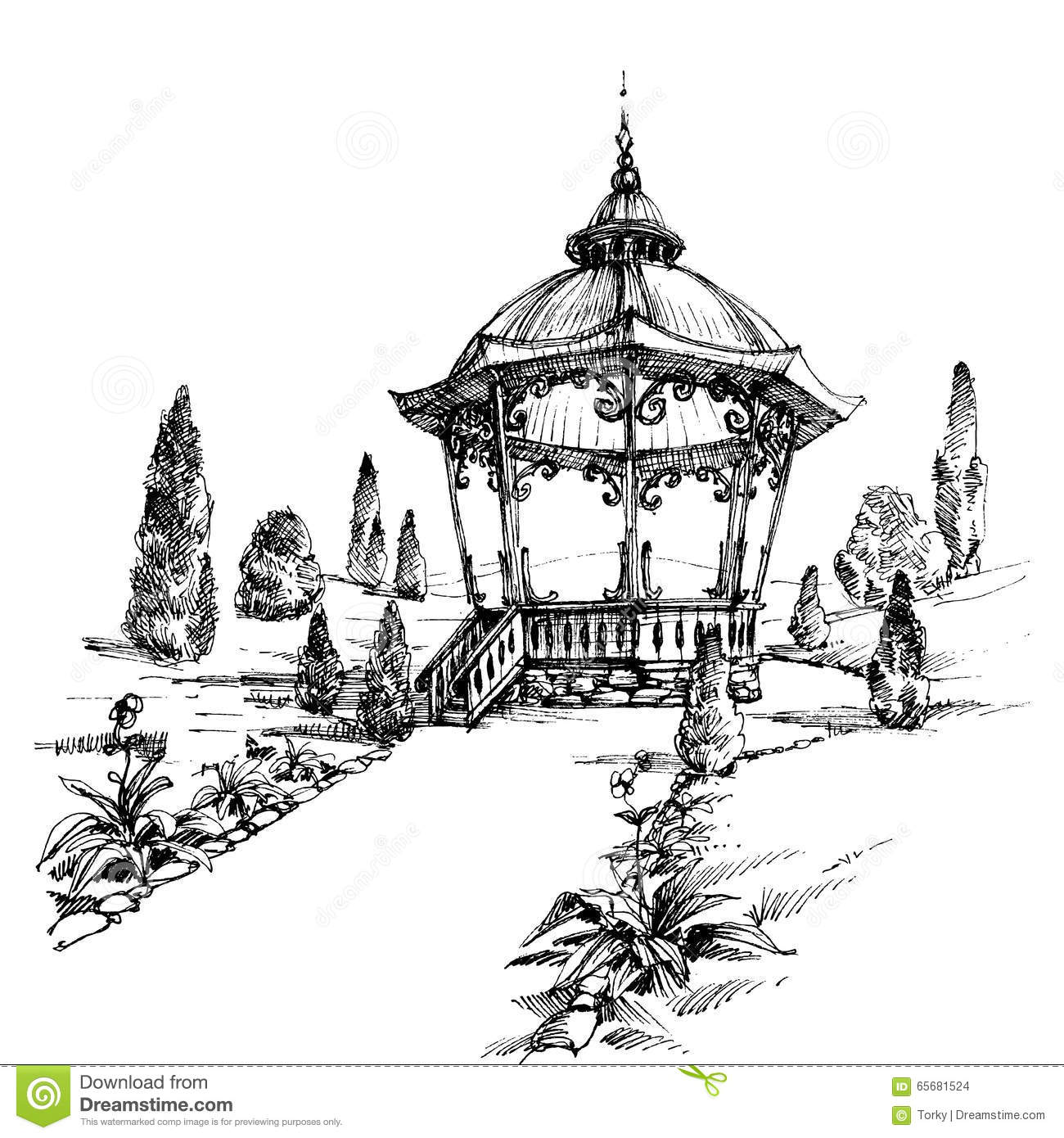 Gazebo Cartoons, Illustrations & Vector Stock Images