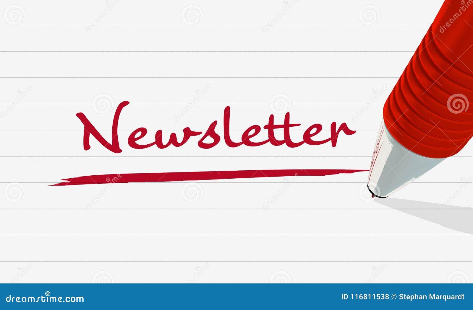 Gazetka w czerwieni Wizerunek dla ilustraci lub zawiadomienia gazetka