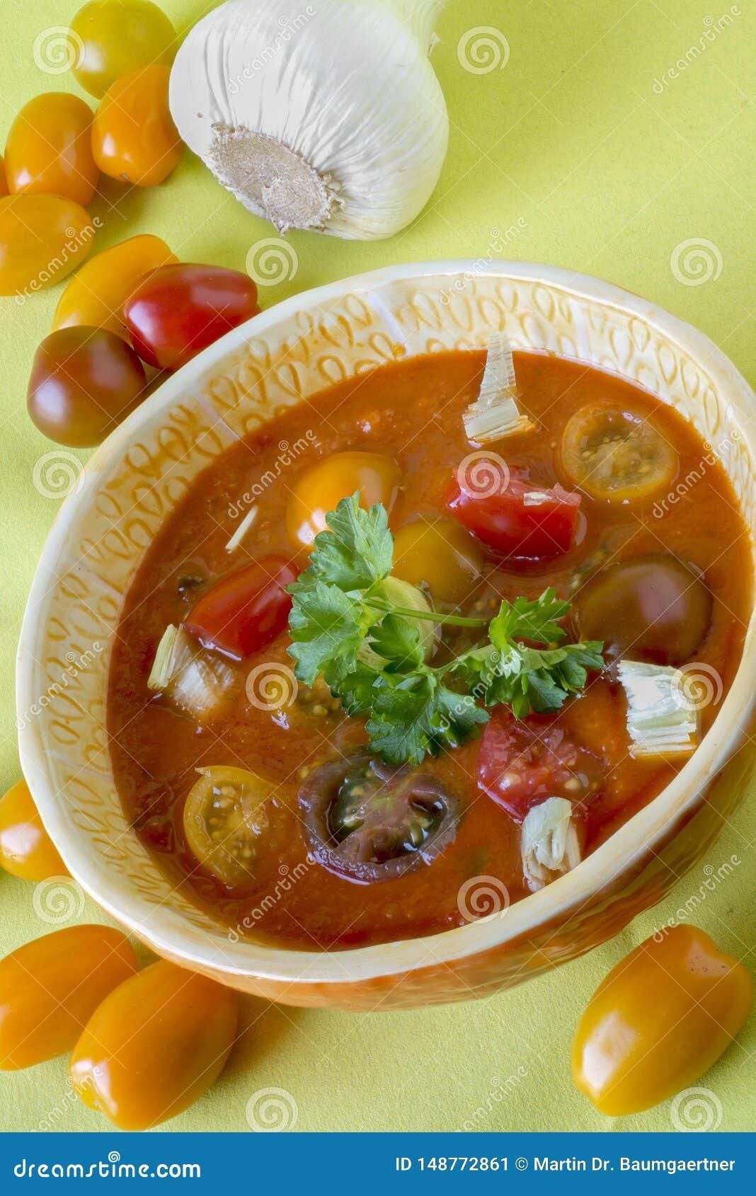 Gazpacho, koude Spaanse soep