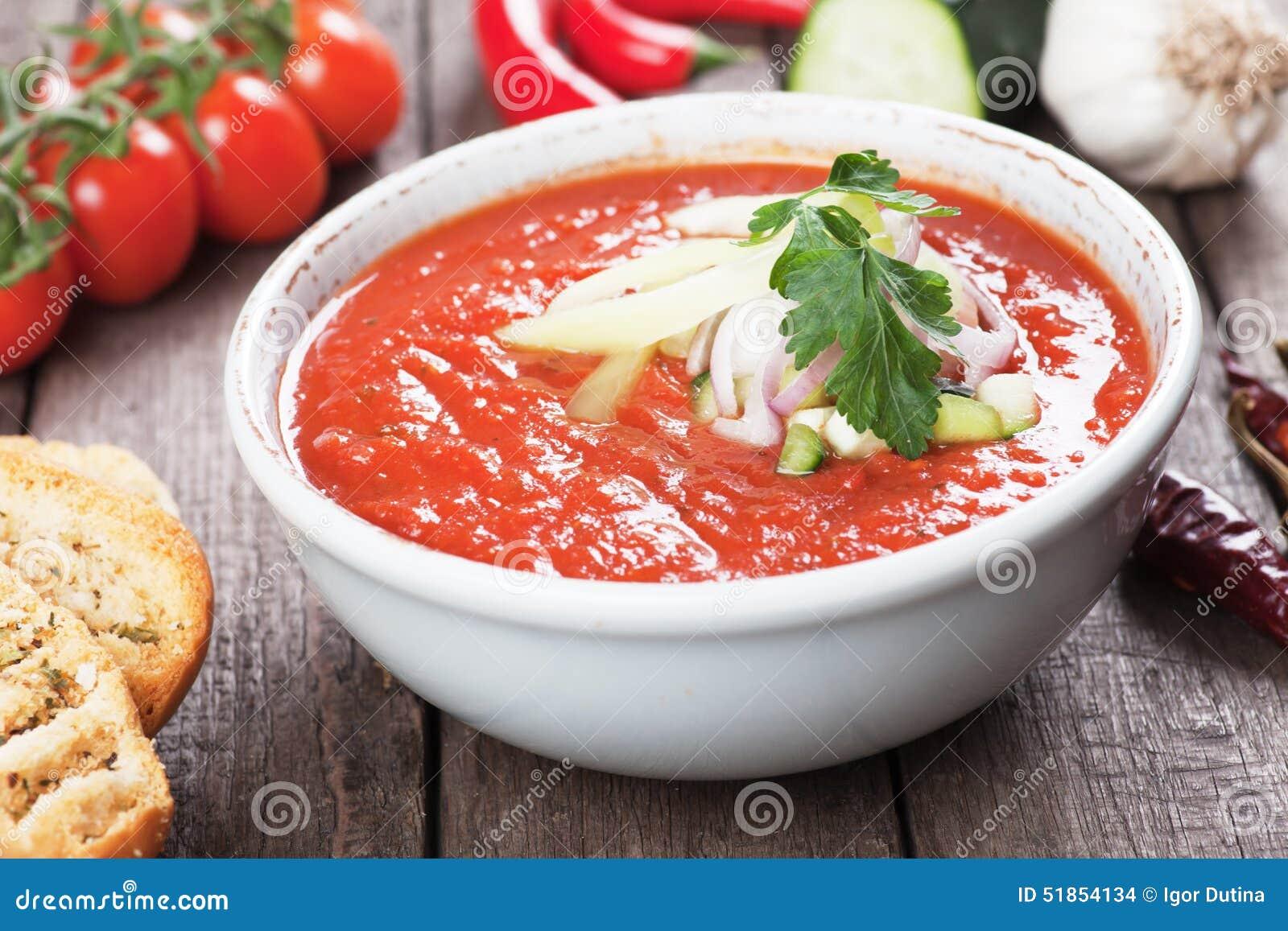 Raw Gazpacho Soup Gazpacho soup stock ph...