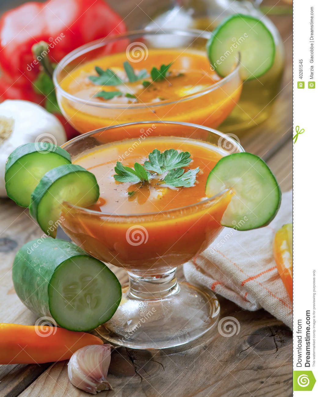 Gazpacho Stock Photo - Image: 40281545